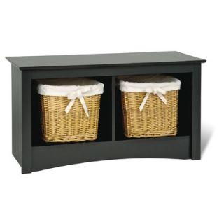 Prepac Sonoma Wood Storage Bedroom Bench   BSC 3620