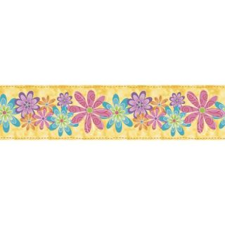 Blue Mountain Snap Kids Flirty Flowers Self Stick Wall Border