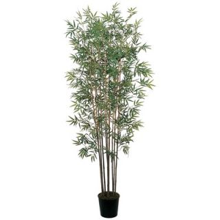 Nearly Natural 72 Silk Mini Bamboo Tree in Green