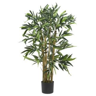 Nearly Natural 72 Fancy Style Slim Silk Bamboo Tree in Green   5193