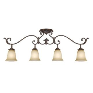 Lighting Kit in Antique Bronze with Dusted Ivory Shades   94513 71
