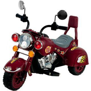 Lil Rider Maroon Marauder Motorcycle with Three Wheeler   80 YJ119M
