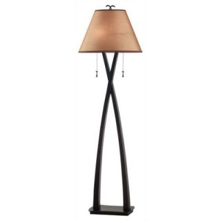 Cal Lighting Arc Floor Lamp with Mica Shade