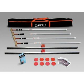 ZipWall 12' Spring Loaded Pole 4 Pack Kit with Carry Bag