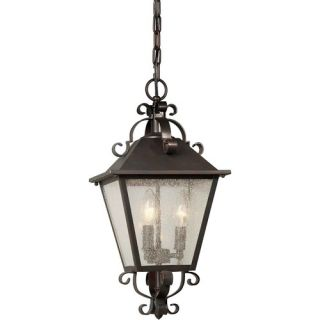 Series Traditional Outdoor Pendant Light in Aged Bronze   Z3521 98