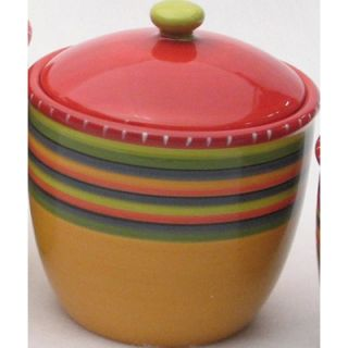 Certified International Hot Tamale Set of 4 Canisters with Lids
