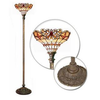 Warehouse of Tiffany Classic Jewel Torchiere Lamp   2484+BB75B
