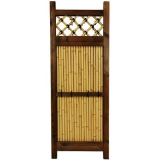 Oriental Furniture Japanese Bamboo 4 x 2 Zen Garden Fence
