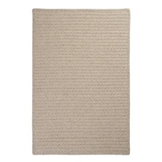Colonial Mills Natural Wool Houndstooth Cream Braided Rug
