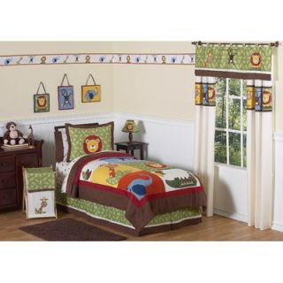 Sweet Jojo Designs Jungle Time 3 Piece Full / Queen Bedding Set