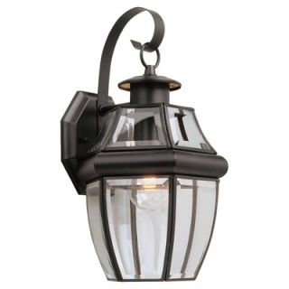 Sea Gull Lighting Classic Outdoor Wall Lantern in Black