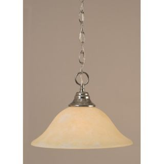 Toltec Lighting 9.5 One Light Downlight Pendant with Amber Marble