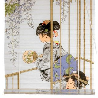 Oriental Furniture tt123Sakura Blossom Bamboo Blinds   WTPF09 02
