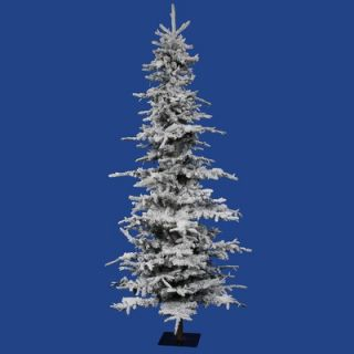 Vickerman Flocked Georian Fir 7.5 Artificial Christmas Tree