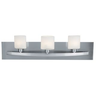 Access Lighting Cosmos Vanity Light with Opal Glass in Brushed Steel