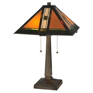 Tiffany Style Dragonfly Table Lamp with 128 Cabochons   CH19B145TL