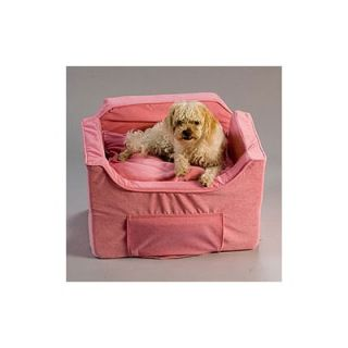 Snoozer Luxury Lookout II Pet Car Seat in Pink Microsuede