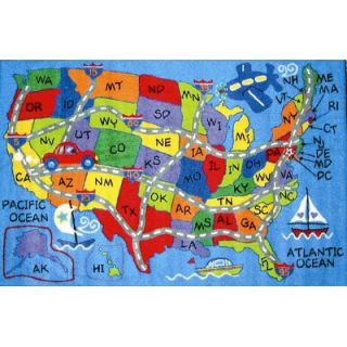 Fun Rugs Fun Time Travel Fun Map Classroom Kids Rug   FT   133