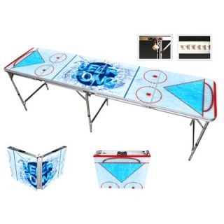 Red Cup Pong Hockey Beer Pong Table in Standard Aluminum