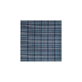 Patch Magic Navy and Light Blue Plaid Bed Skirt / Dust Ruffle