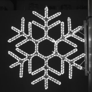 Holiday Lighting Specialists 36 Pole Decoration Hexagon Snowflake in