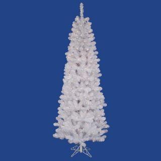 Vickerman White Salem Pencil Pine 9.5 Artificial Christmas Tree with