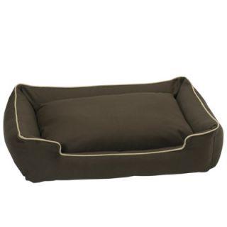 Jax and Bones Organic Lounge Dog Bed in Stone   Organic Lounge