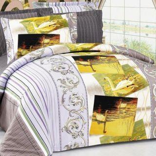 Le Vele Baseball 6 Piece Full / Queen Duvet Cover Bedding Set