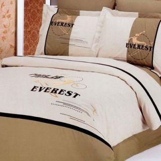 Le Vele Snowboard 6 Piece Full / Queen Duvet Cover Bedding Set