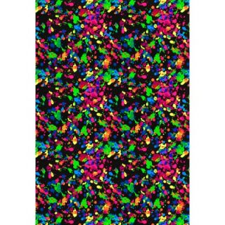 Joy Carpets Fluorescent Splatter Paint Kids Rug
