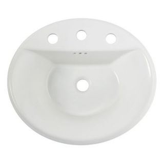 American Standard Tropic Oval Self Rimming Bathroom Sink