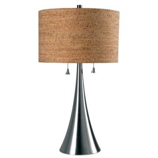 Kenroy Home Reed Two Light Table Lamp in Brushed Steel