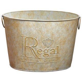 Regal Art & Gift Large Garden Stake Bucket in Metal   REGALD136