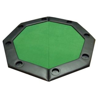 JP Commerce Padded Octagon Folding Poker Table Top with Cup Holders in