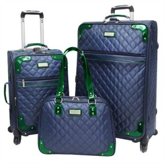 Beverly Hills Country Club Quilted Collection 3 Piece Spinner Luggage