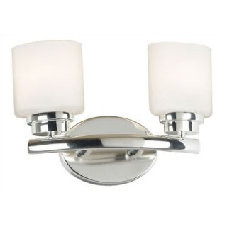 Kenroy Home Bow Vanity Light in Polished Nickel