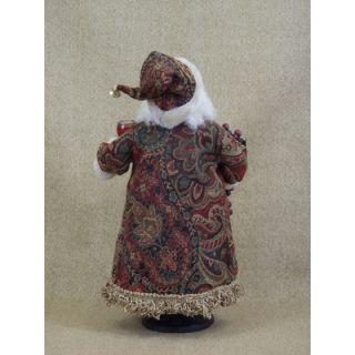 Karen Didion Crakewood Wine Bottle Cork Collector Santa Figurine