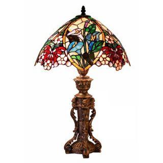 Warehouse of Tiffany Flower Design Table Lamp   2848+BB818