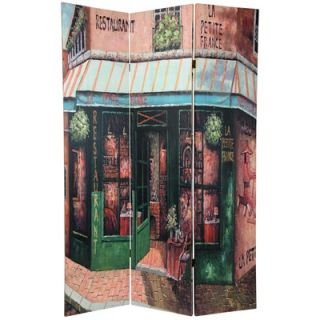 Oriental Furniture Double Sided Parisian Street Room Divider