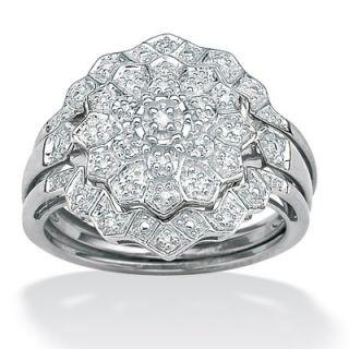 Palm Beach Jewelry Three Piece Diamond Wedding Set