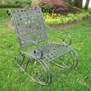 International Caravan Iron Patio Scroll Rocking Chair