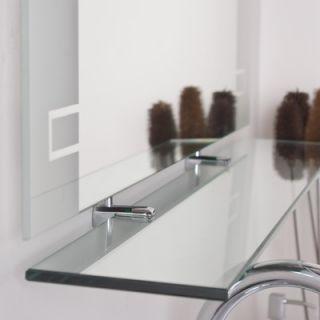 Decor Wonderland Frameless Aydin Wall Mirror and Shelf
