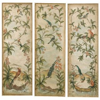 Uttermost Aviary Panel I, II, and III Canvas Oil Paintings