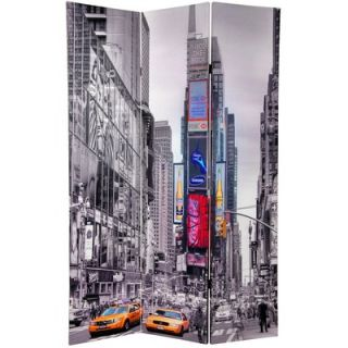 Oriental Furniture Double Sided New York Taxi Room Divider in Black