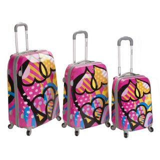 Vision 3 Piece Polycarbonate/ABS Spinner Luggage Set