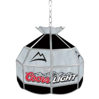 Trademark Global Coors Light Stained Glass Tiffany Lamp