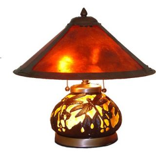 Warehouse of Tiffany Mica Dragonfly Table Lamp with Lighted Base