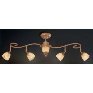 Astoria Five Light Track Light in Antique Gold   16260 016