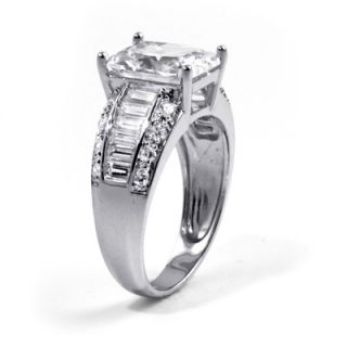 Palm Beach Jewelry Cubic Zirconia Platinum / Sterling Silver Ring