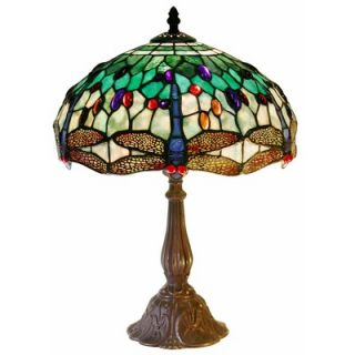 Warehouse of Tiffany White Dragonfly Table Lamp   KS37GS+MB06